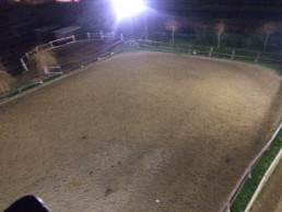 nouvel eclairage carriere poney club d'axelle