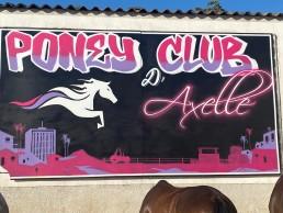 nouveau panneau logo poney club d'axelle par Vince